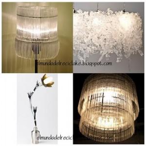Lámparas ecológicas de reciclaje