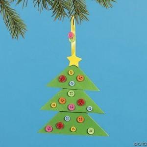 Reciclar botones: Adorno navidad reciclando botones