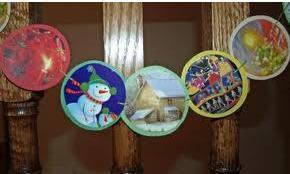 Guirnaldas con postales recicladas