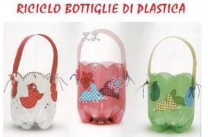 Cestas con botellas de plástico
