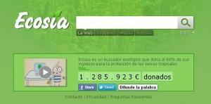 Buscador ecológico ecosia.org
