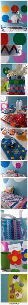 Manualidades con tapones de plástico