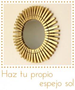 Espejo decorativo con pinzas de ropa