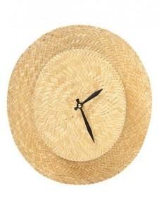 Reloj sombrero de paja viejo