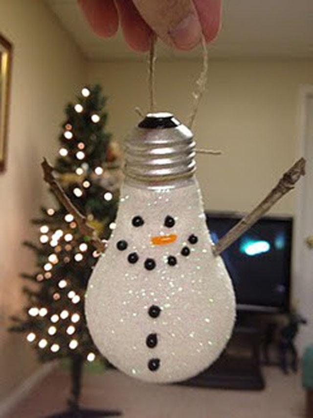 Como decorar bombillas para navidad - Manualidades recicladas para decorar ...
