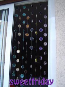 Cortinas para puertas con cápsulas nespresso
