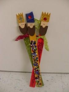 Reyes Magos con palos de helado