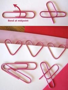 Como hacer corazones con clips para San Valentín