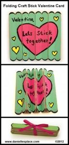 Como hacer una tarjeta San Valentín con palos de polo