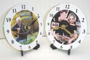 Relojes de mesa con cds para papá
