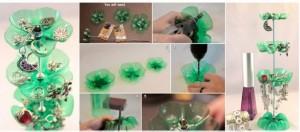 Como hacer un joyero con botellas de plástico