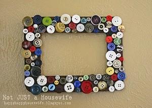 Portaretratos con botones reciclados