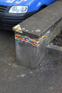 Reparación de grietas con fichas de Lego
