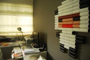 Cuadro pared con conos de papel