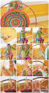 Hula hoop reciclado en alfombra