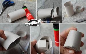 Tutorial tazas con tubos de cartón