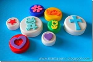 Sellos de formas con tapones de plástico