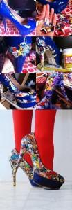 Zapatos con cómics o tebeos reutilizados