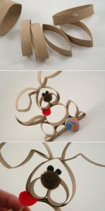 Conejo de pascua con tubos de cartón