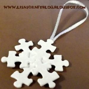 Estrella Navidad con piezas de puzzle