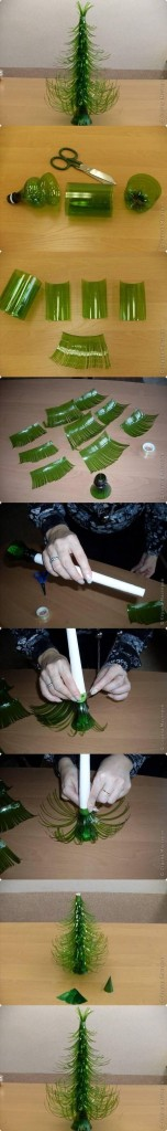 Árbol navidad botellas de sprite de plástico