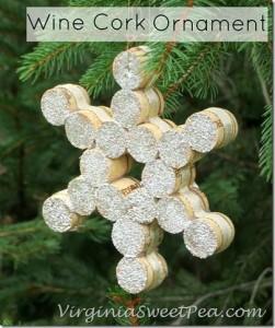 Estrella Navidad con corchos de vino