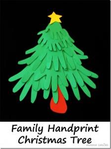 Postal de Navidad en forma de árbol con cartón