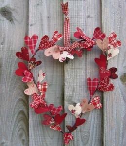 Corona San Valentín para puertas