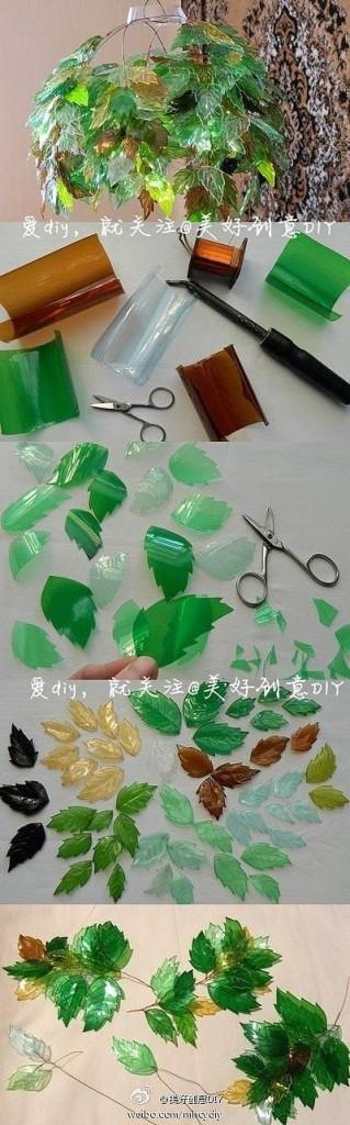 Cómo hacer plantas artificiales decorativas con botellas de plástico