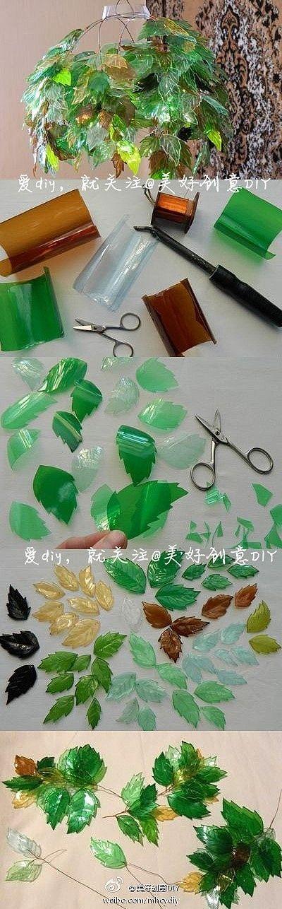C mo hacer plantas artificiales decorativas con botellas for Plastico para lagunas artificiales