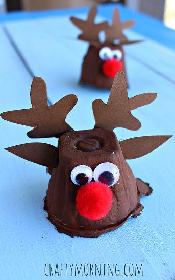 C mo hacer renos pap noel con hueveras de cart n for Cosas decorativas para navidad