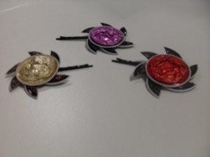 Horquillas cápsulas nespresso flor de girasol