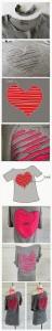 Reutilizar camiseta vieja con corazón para el 14 de febrero