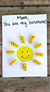 Tarjetas postales para madres con pasta