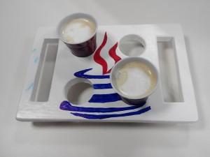 Bandeja a medida para cafés de máquina