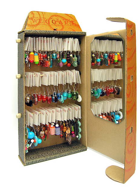 Joyero con cajas de cart n - Cajas grandes de carton decoradas ...