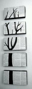 Cuadro pared de composición de 5 piezas