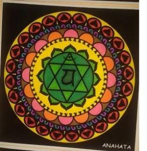 Mandala pintado: Anahata el 4º chakra