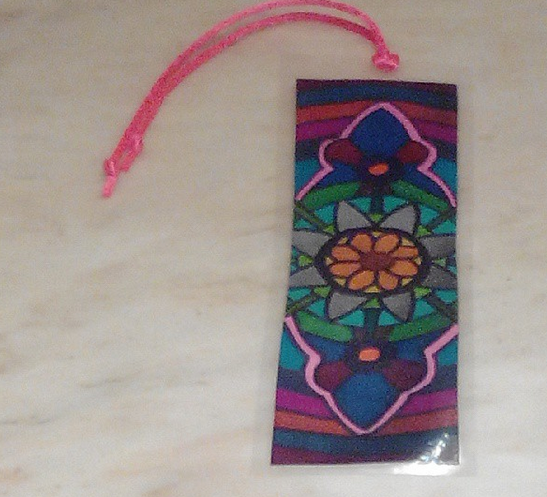 Marcapáginas para libro de mándala de flores