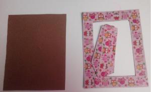 Piezas para portaretratos de cartón y washi tape