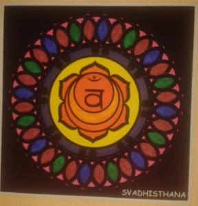 Mandala svadhisthana segundo chakra pintado