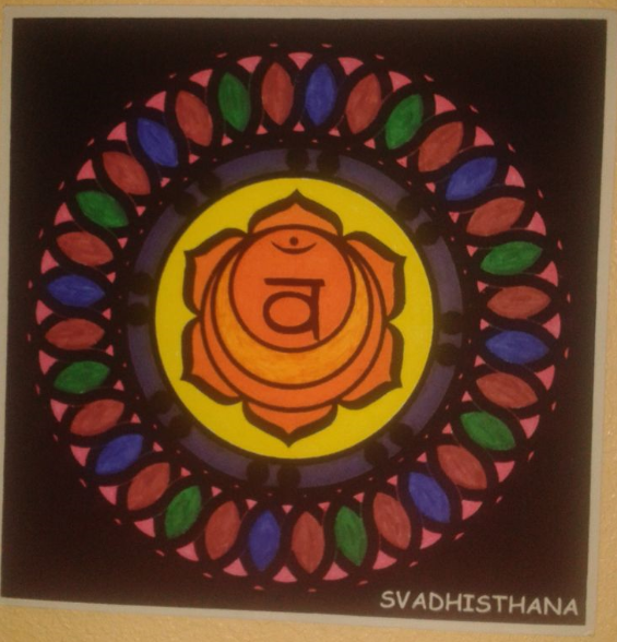 Mandala pintado: ' Svadhisthana, el segundo chakra'