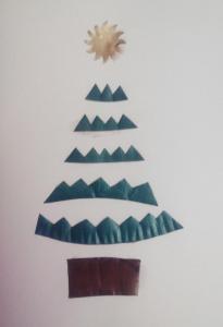 Postal de Navidad con árbol de cápsulas nespresso