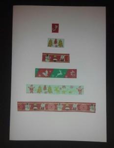 Felicitación de Navidad con washi tape