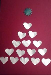 Tarjeta de Navidad con cápsulas nespresso