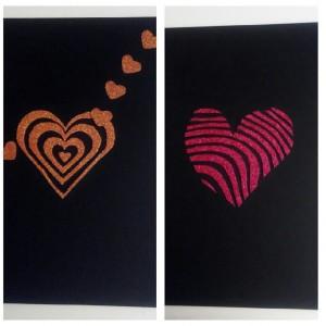 Cuadro reversible de corazones con goma eva