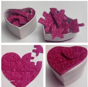 Kit para enamorados: puzzle de corazón