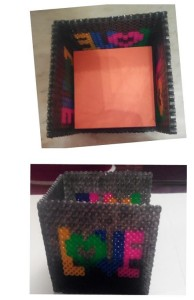 Soporte post-it con hamabeads midi