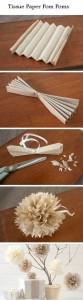 Claveles hechos con bolsas de papel