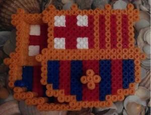 Caja del Barça con hama beads midi